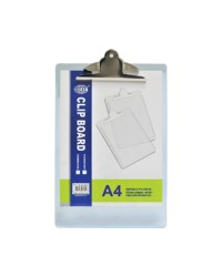 Acrylic Clip Boards A4,Grey