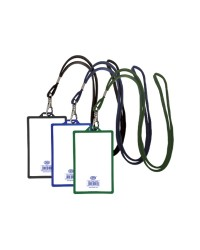 Colored Vertical Name Badge Holders 90 x 55 mm Blue