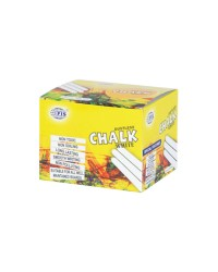 Dustless White Chalks 12 Pcs. White Chalks