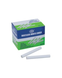 Dustless White Chalks 100 Pcs. White Chalks