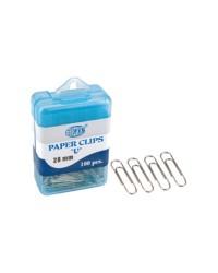 Paper Clips in Plastic Box 28 mm