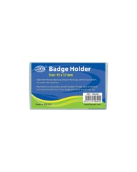 Badge Holder 95 x 57 mm Clear