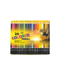 Color Pencils in Metal Box 24 Assorted Colors